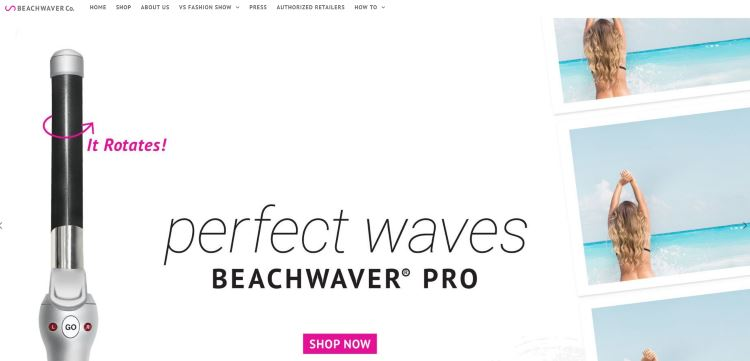 Screenshot of The Australian Beachwaver Co. website